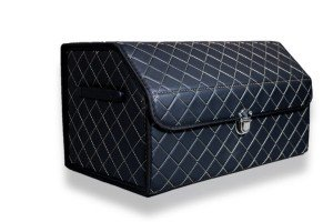Органайзер в багажник Черный+золото